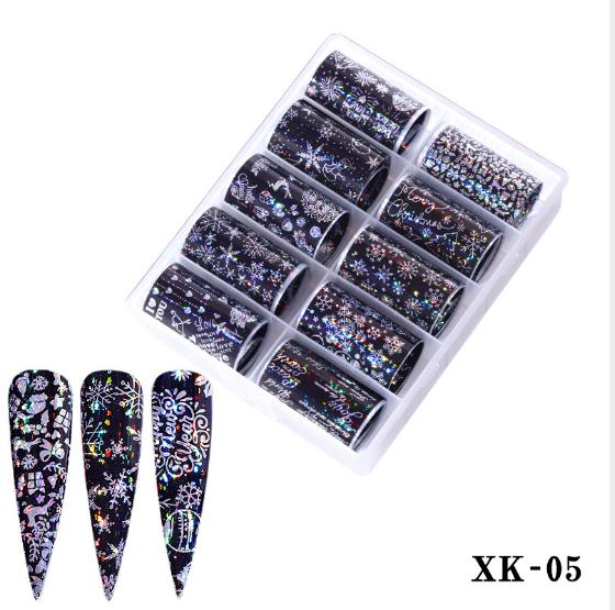 10 pcs nail foils no xk05 picture
