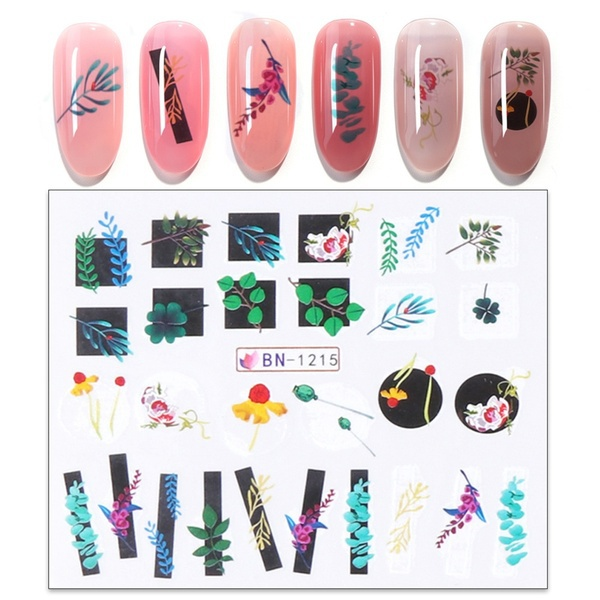 Water transfer nail sticker bn-1215 picture