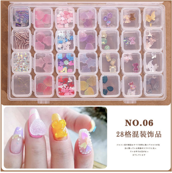 28 grids box nail decoration box n0 6 picture
