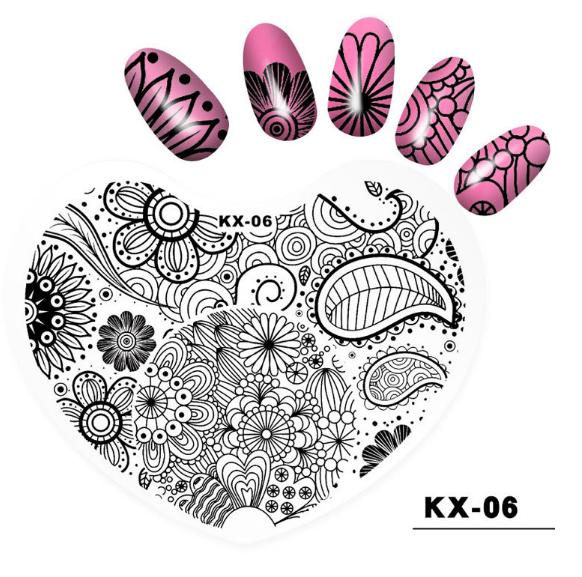 Plastic heart image plates kx06 picture
