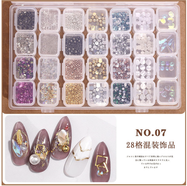 28 grids box nail decoration box n0 7 picture