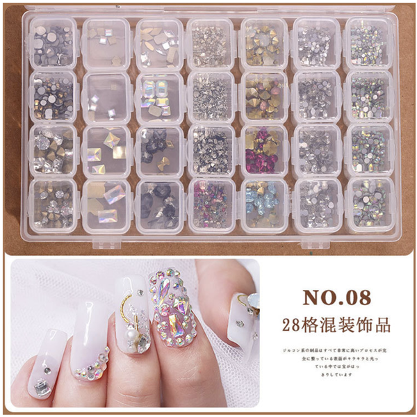 28 grids box nail decoration box n0 8 picture