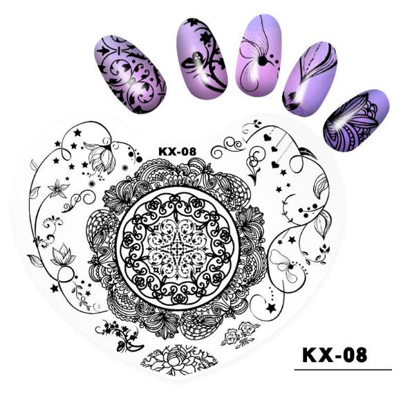 Plastic heart image plates kx08 picture