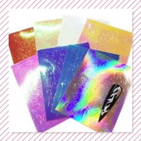 6 pc s flame nail stickers picture