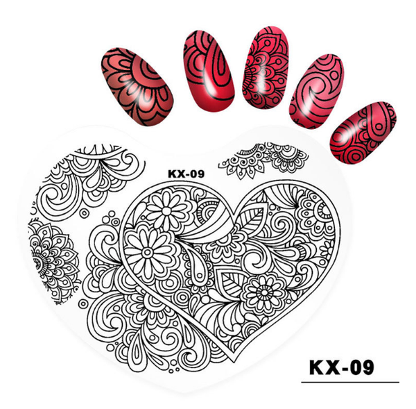 Plastic heart image plates kx09 picture