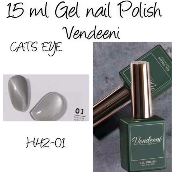 15 ml vendeeni uv/led gel nail polish cats eye   h42-01 picture