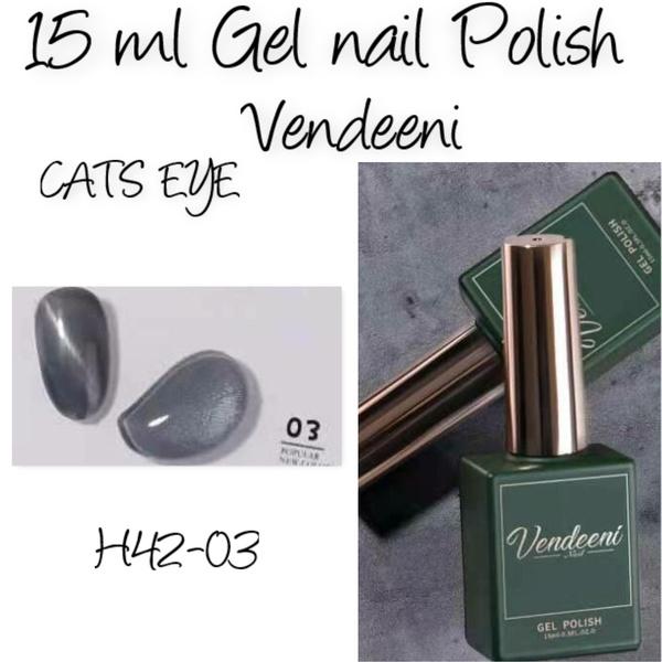 15 ml vendeeni uv/led gel nail polish cats eye   h42-03 picture