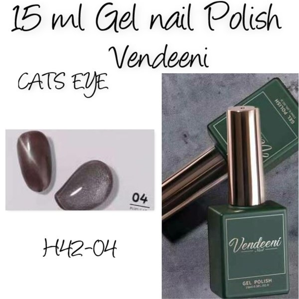 15 ml vendeeni uv/led gel nail polish cats eye   h42-04 picture
