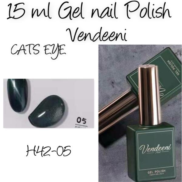 15 ml vendeeni uv/led gel nail polish cats eye   h42-05 picture