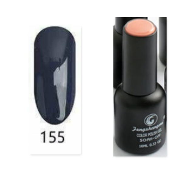 Fengshangmei 10 ml one step gel polish non wipe - no 155 dark brown picture