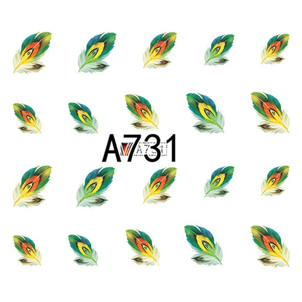 Water transfer nail sticker a731 picture