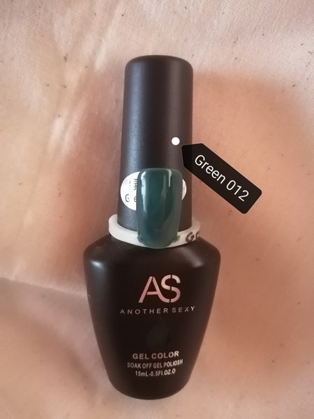 15 ml as uv/led gel - green 012 picture