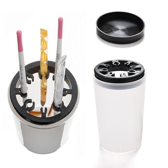 Brushes cleaning cup picture