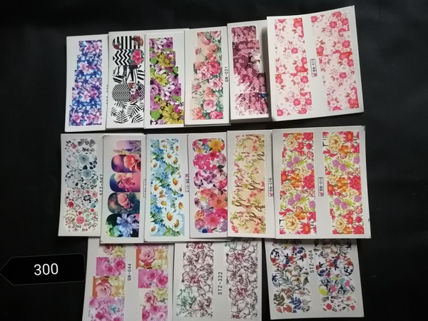 15 pcs water transfer stickers no 300 picture