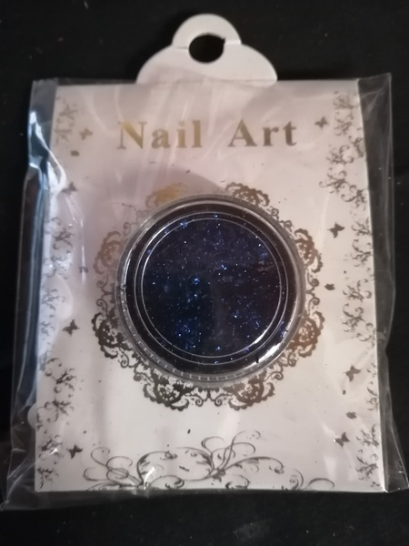 Nail art flakes blue picture