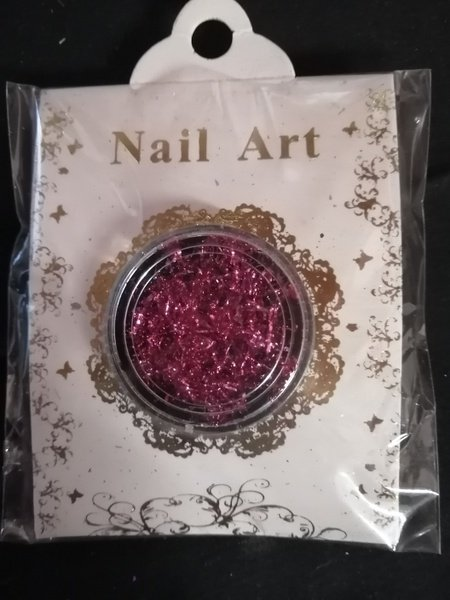 Pink flake glitter picture