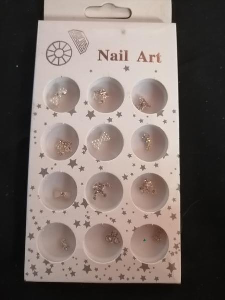12 pcs nail art charms picture