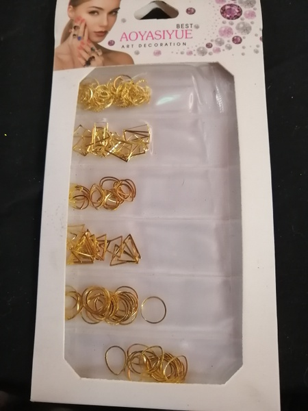 Pack of gold nail charms picture