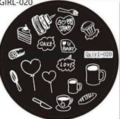 Stamping plate qgirl020 picture