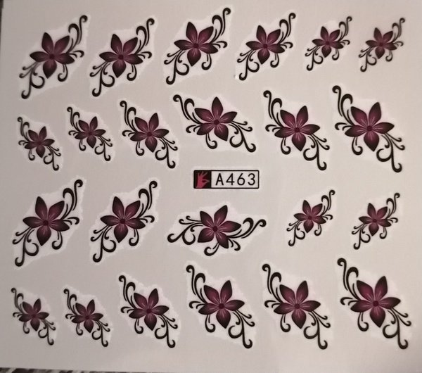 Water transfer nail sticker a463 picture