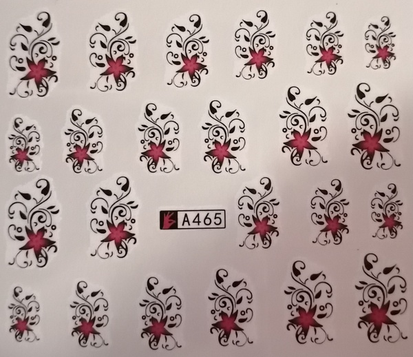 Water transfer nail sticker a465 picture