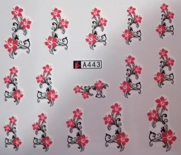 Water transfer nail sticker a443 picture