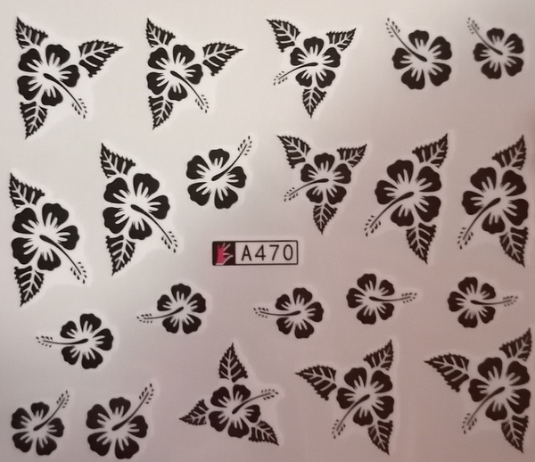 Water transfer nail sticker a470 picture