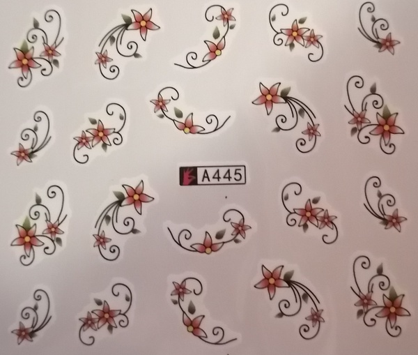 Water transfer nail sticker a445 picture