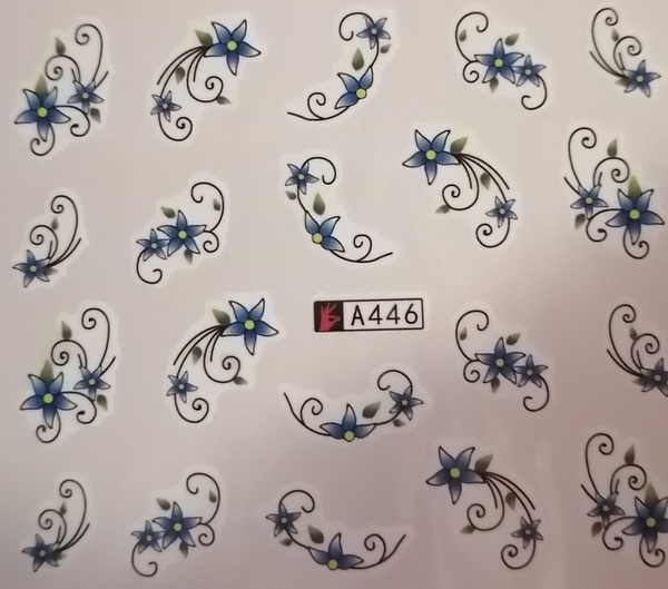 Water transfer nail sticker a446 picture