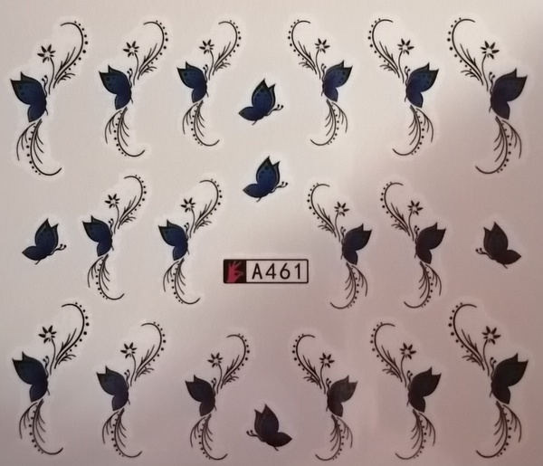 Water transfer nail sticker a461 picture