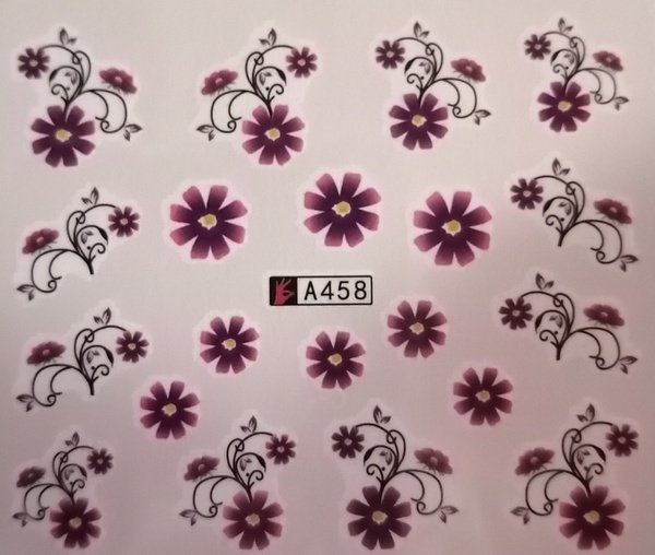 Water transfer nail sticker a458 picture