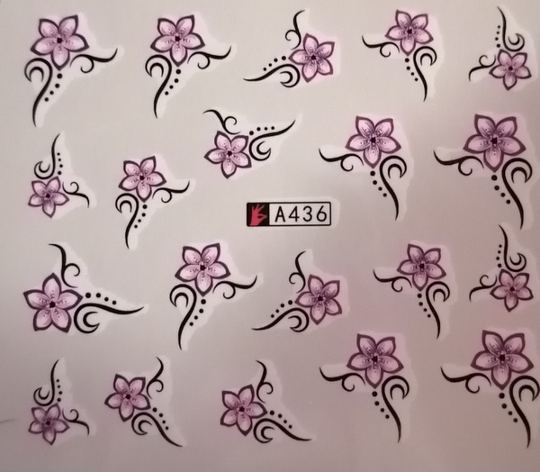Water transfer nail sticker a436 picture
