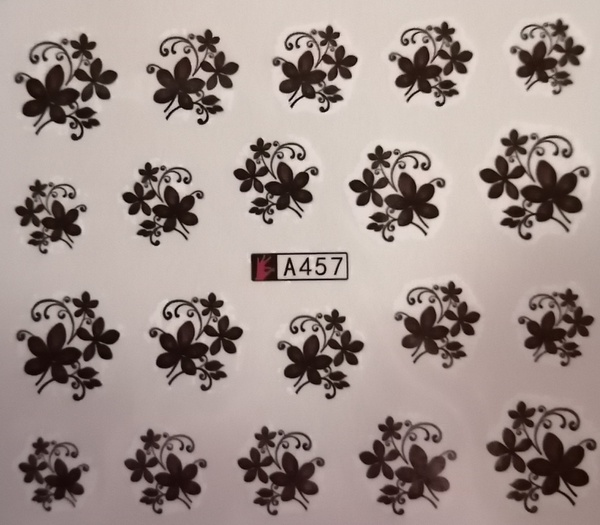 Water transfer nail sticker a457 picture