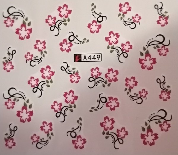 Water transfer nail sticker a4349 picture
