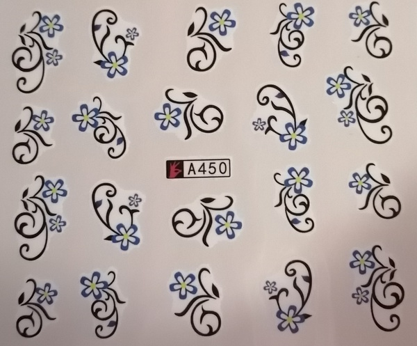 Water transfer nail sticker a450 picture