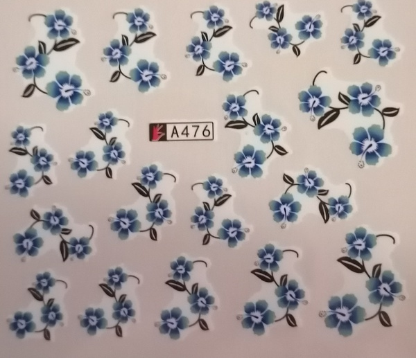 Water transfer nail sticker a476 picture