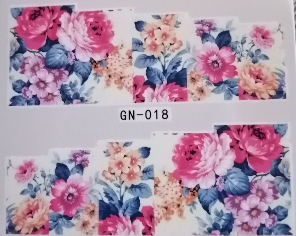 Water transfer nail sticker gn018 picture