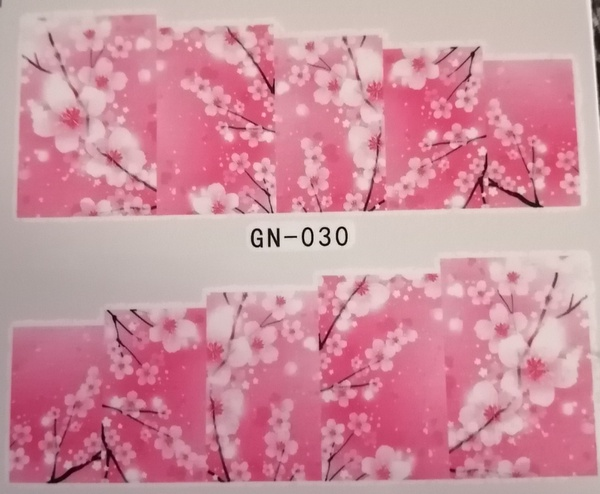 Water transfer nail sticker gn030 picture