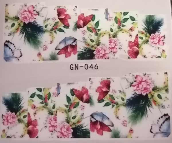 Water transfer nail sticker gn046 picture