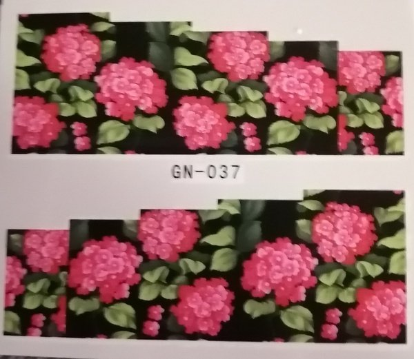 Water transfer nail sticker gn037 picture