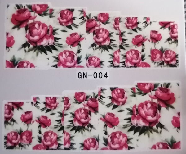 Water transfer nail sticker gn004 picture