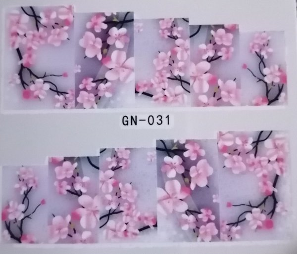 Water transfer nail sticker gn031 picture