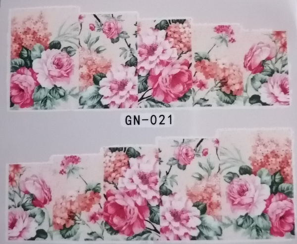 Water transfer nail sticker gn021 picture
