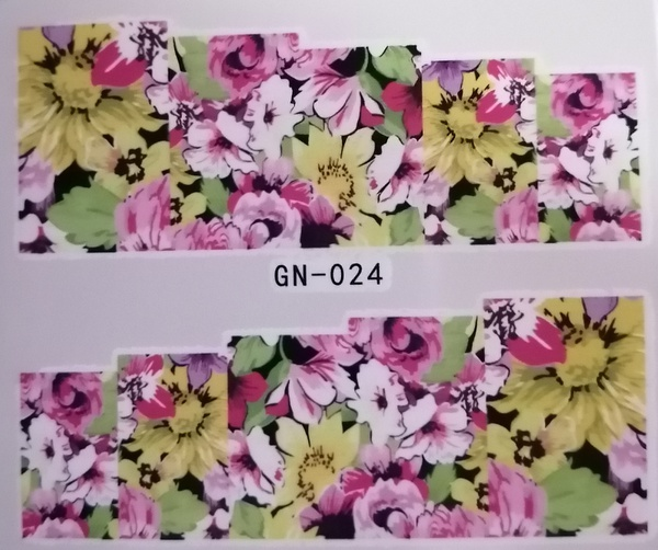Water transfer nail sticker gn024 picture