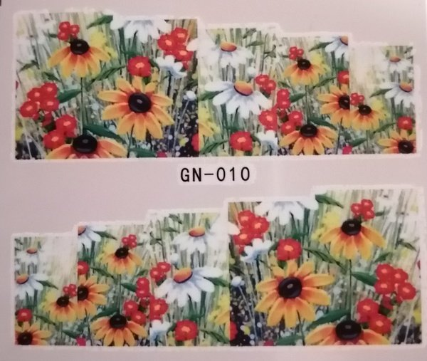 Water transfer nail sticker gn010 picture