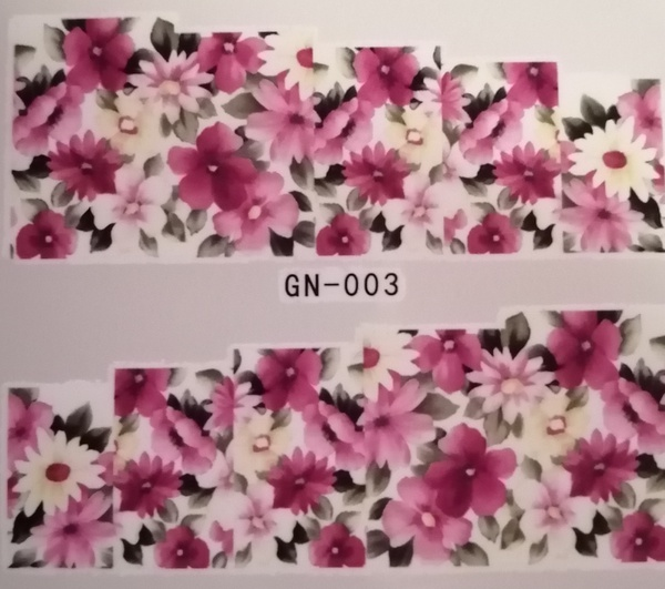 Water transfer nail sticker gn003 picture