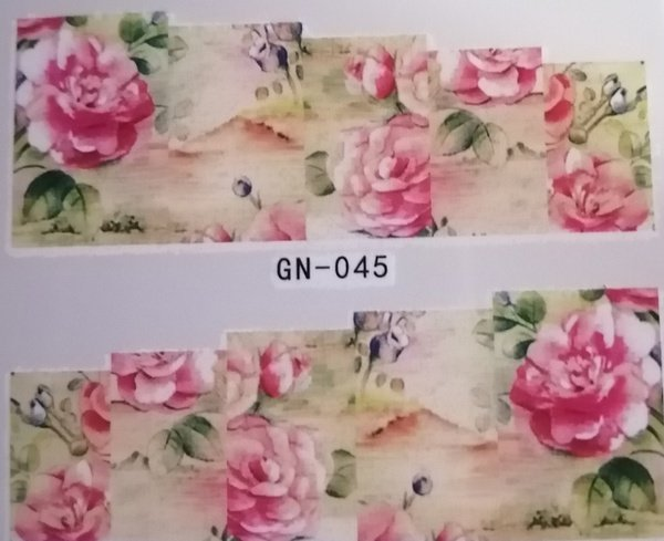 Water transfer nail sticker gn045 picture