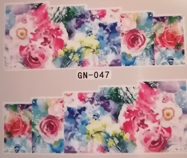 Water transfer nail sticker gn047 picture