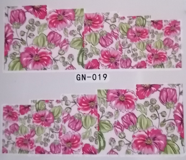 Water transfer nail sticker gn019 picture