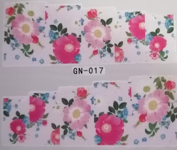 Water transfer nail sticker gn017 picture